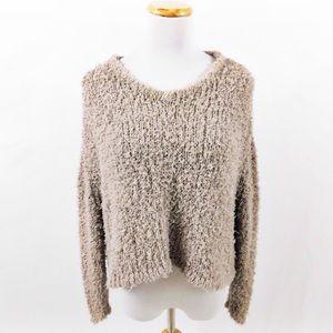 J Brand Cream Fuzzy Sweater